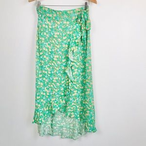 Rachel Zoe Floral print Wrap Ruffled Skirt